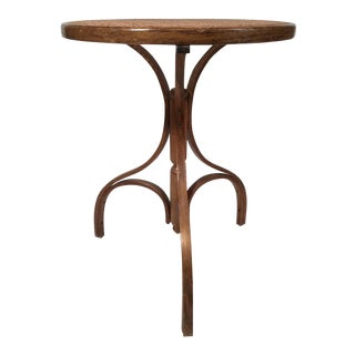 Bentwood Caned Side Table