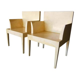 John Dickinson Parchment Chairs - Pair