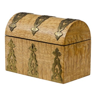 Antique Maple Stationery Box, Circa 1880