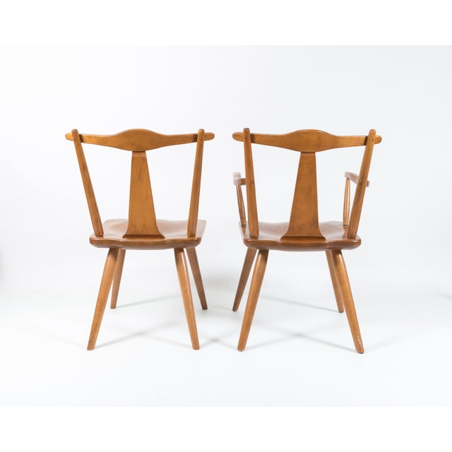 Cushman Mid-Century Colonial Dining Chairs - Set of 6 - Image 5 of 11