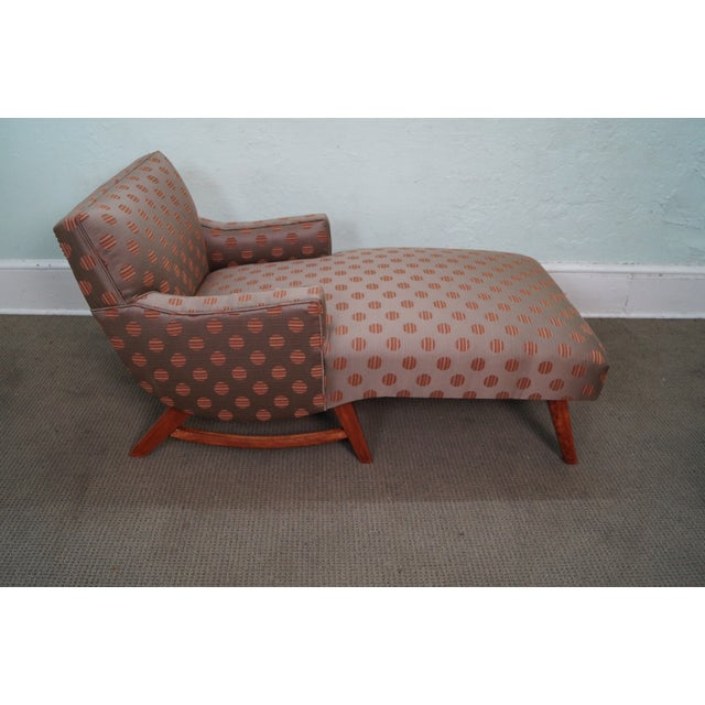 Mid century modern 1950s upholstered chaise lounge chairish for 1950 chaise lounge