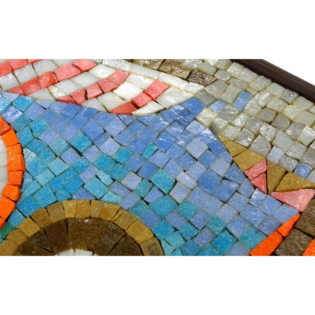 Rare Evelyn Ackerman Mosaic Tile Wall Hanging, Grecian Long Boat Scene - Image 6 of 8