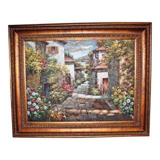 Large Tuscan Scene Oil Painting