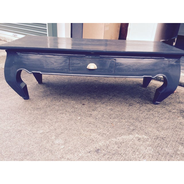 Asian Lacquered Coffee Table - Image 2 of 5