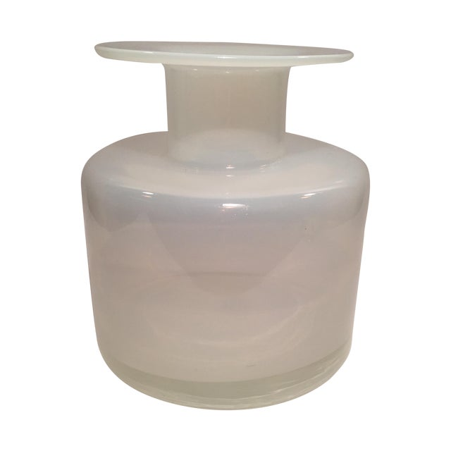 White Translucent Vase in the Style of Holmegaard - Image 1 of 6