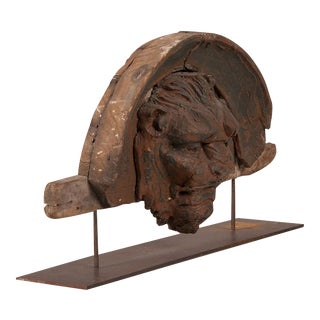 Carved Italian Head of a Beast Set in an Architectural Framework circa 1880