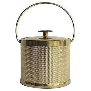 Gold Mesh Vintage Ice Bucket