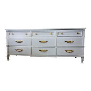 Drexel Neoclassical Louis Blue Dresser