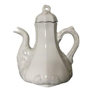Vintage Ironstone White Teapot