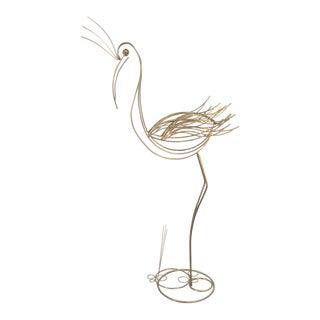 Mid-Century Modern Brass Flamingo Sculpture