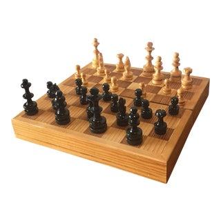 Mini Wooden Travel Chess Set