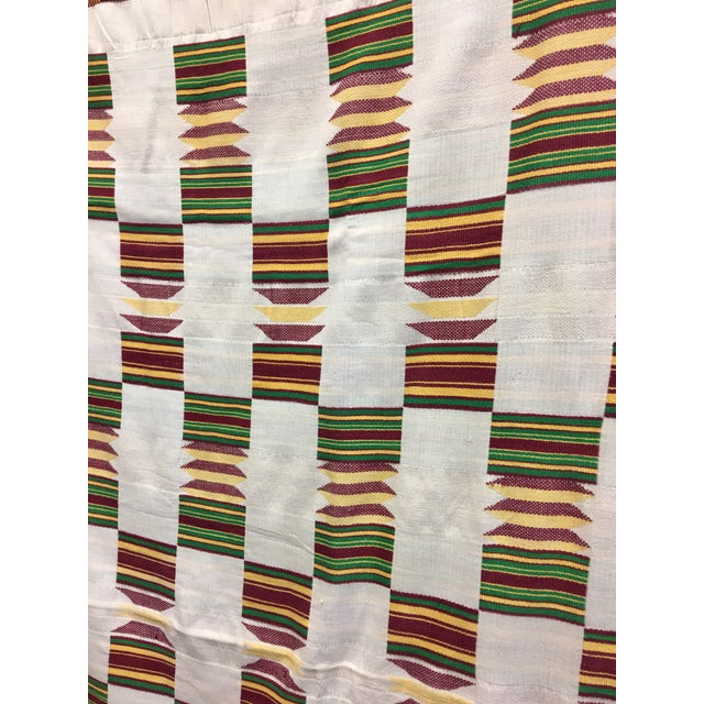 "African Tribal Vintage Textile Throw - 41"" x 79"" - Image 3 of 11"