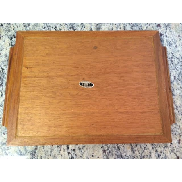 Vintage Gump's Capiz Shell & Wood Tray - Image 5 of 6