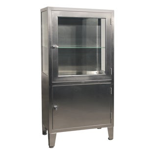 Stainless Steel Lit Medical Cabinet