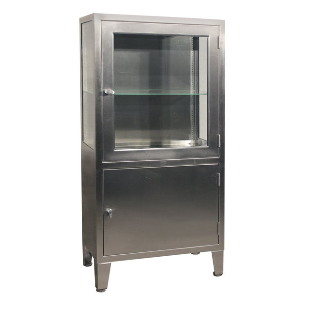 Stainless Steel Lit Medical Cabinet - Image 1 of 9