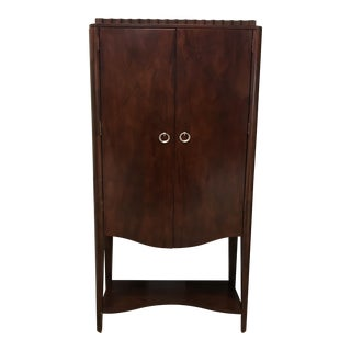 Contemporary Mahogany Bar Wall Unit