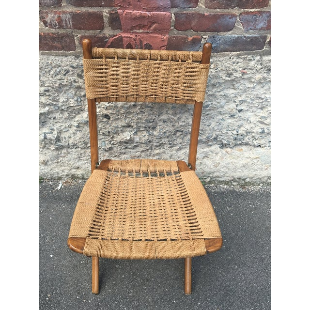 Vintage Hans Wegner Style Folding Chair - Image 4 of 5