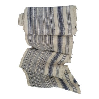 Striped Nubby Linen Homespun Textile Roll