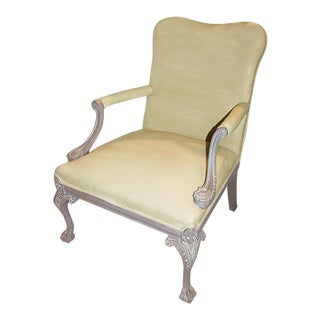 Carved Chippendale-Style Armchair