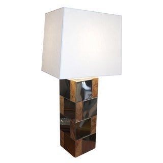 Paul Evans Inspired City Scape Table Lamp