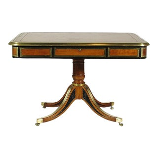 19th-Century Antique Regency Library Table