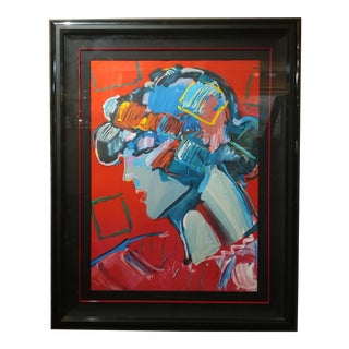 1987 Crimson Lady by Peter Max Pop Art Lithograph