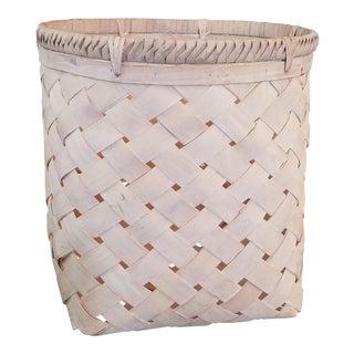 Neutral Oversized Woven Basket
