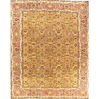 """Pasargad N Y Antique Fine Agra Hand-Knotted Rug - 10'7"""" X 13'"""