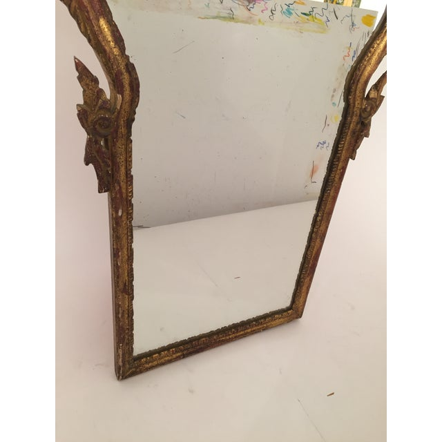 Antique Italian Gothic Gold Leaf Mirror - Image 11 of 11