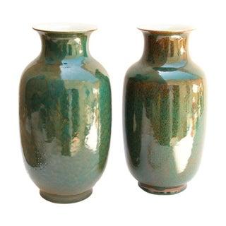 Ceramic Lantern Vases - A Pair