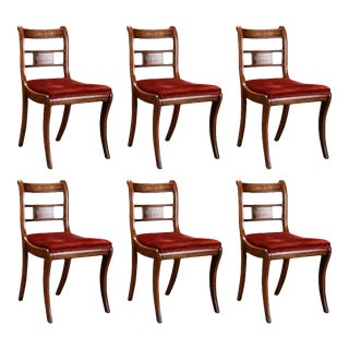 English Rosewood & Mahogany Chairs - Set of 6