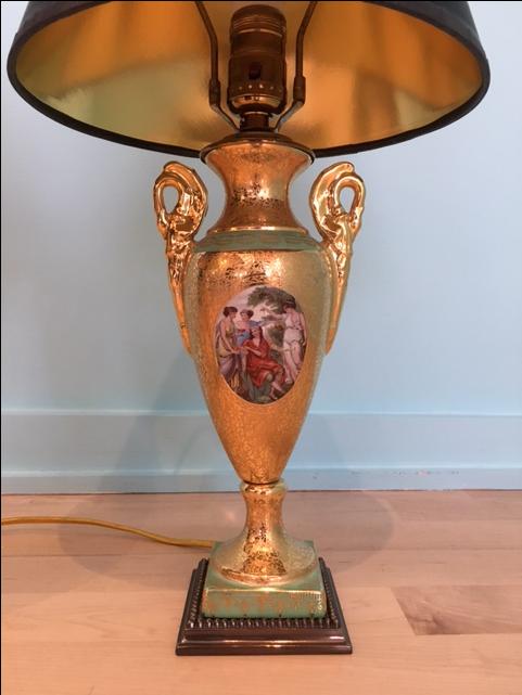 Single Le Mieux 24k Gold China Porcelain Lamp Chairish