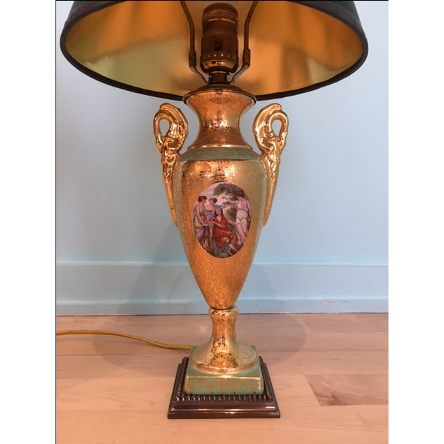 Single Le Mieux 24k Gold China Porcelain Lamp Chairish