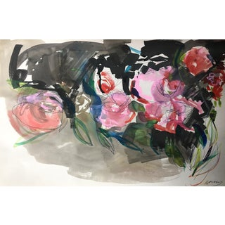 Jenny Vorwaller Red Roses Watercolor Painting
