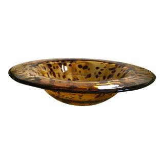 Tortoise Handblown Glass Centerpiece