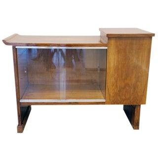 Art Deco Walnut Cabinet