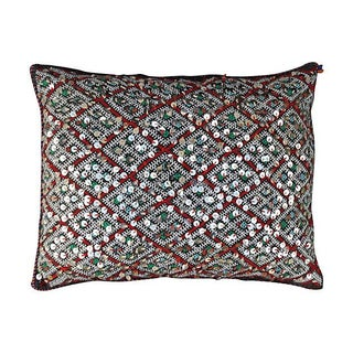Moroccan Diamond Pattern Sequined Sham