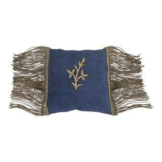 Metallic Appliqued Linen Lavender Sachet