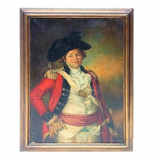 Late 18th Century Antique Painting of a Soldier