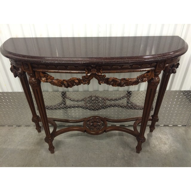 Maitland-Smith Carved Entry Table - Image 2 of 10