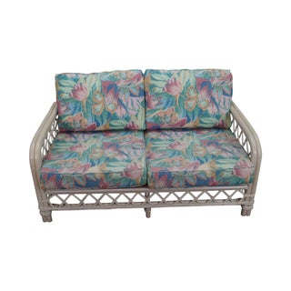 Ficks Reed Painted Rattan Loveseat