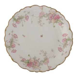 Antique Limoges Large Floral Design Platter