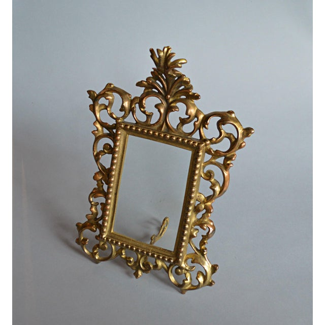 Rococo Style Gilt Brass Photo Frame - Image 4 of 5