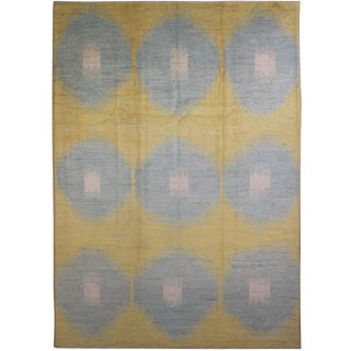 "Hand Knotted Ikat Rug - 11'10"" X 9'5"""