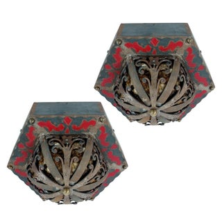 Art Deco Flush Mounts - A Pair