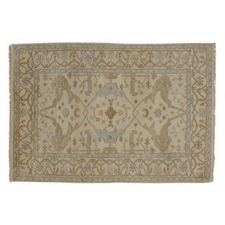 Indian Oushak Wool Pile Rug- 4′1″ × 6′