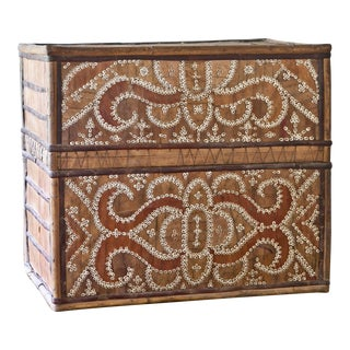 Indonesian Woven Palm Storage Box