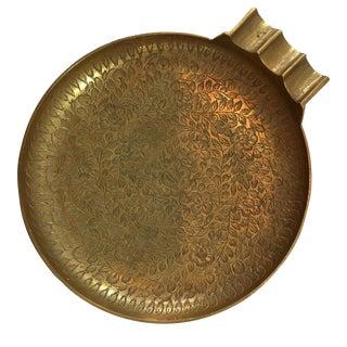 Vintage Etched Brass Cigar Holder