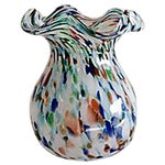 Image of Multicolored Handblown Glass Vase