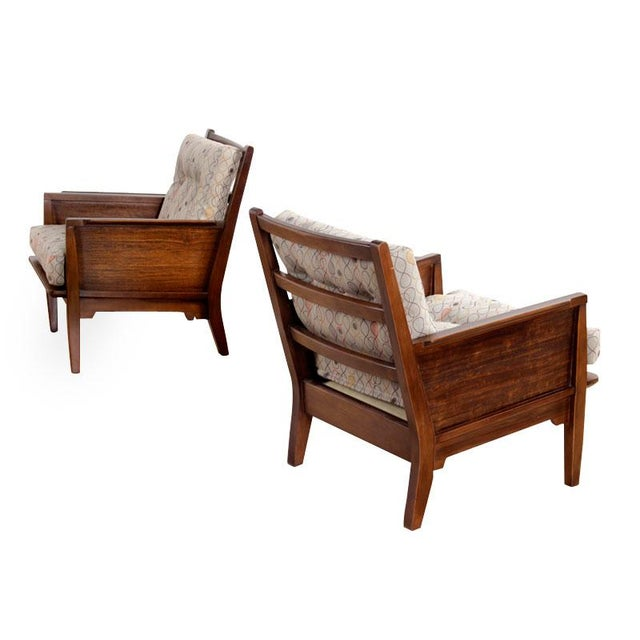 Milo Baughman Perspective Chairs - Pair - Image 1 of 5